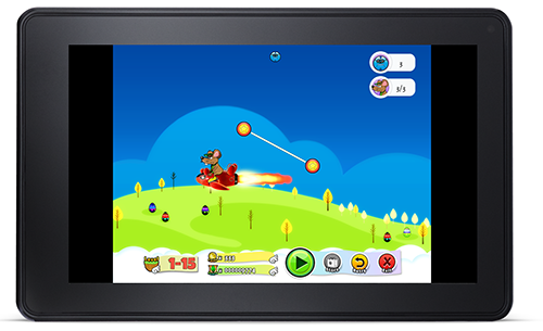 Challenging the first Boss on a Kindle Fire Tablet