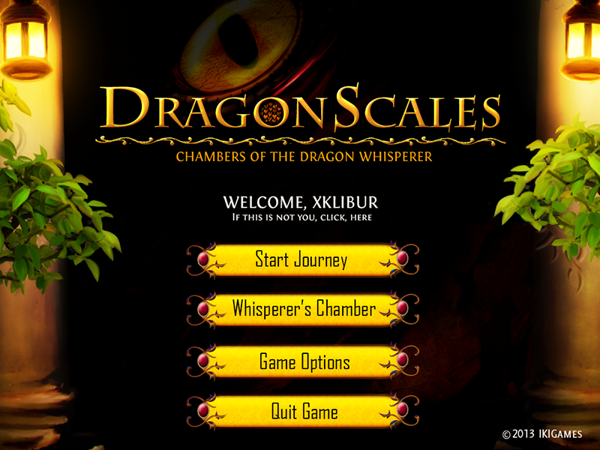 DragonScales Main Screen
