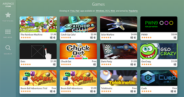The Rainbow Machine heading up the list of Airspace's most popular games