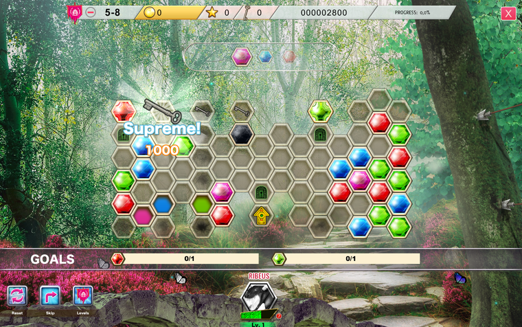 In the DragonScales 6 game you'll capture keys on the board